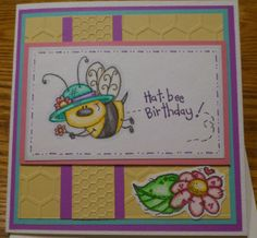 "Whipper Snapper Stamps ""Hat Bee Birthday"" image, and flower and leave image.  The bee stamp cracked me up!"