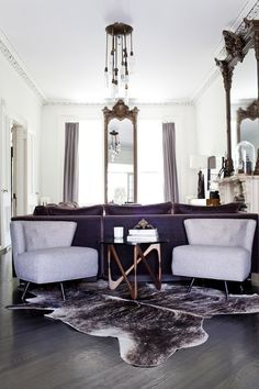 living room // Michelle James' Brooklyn Townhouse #interiors #design