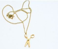 Little Scissors Necklace. Great gift idea for your crafty friends!