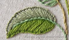 Anna Scott : Blanket stitch leaves - part two ༺✿ƬⱤღ✿༻ Embroidery Leaf, Types Of Embroidery, Learn Embroidery, Silk Ribbon Embroidery, Cross Stitch Embroidery, Embroidery Patterns, Sewing Art, Sewing Crafts, Broderie Simple