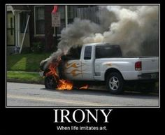21 Of The Best Examples Of Irony. I Absolutely Detest 21 Of The Best Examples Of Irony. I Absolutely Detest I feel bad for the guy on last one! Define Irony, Just For Laughs, Just For You, Oh The Irony, Funny Bunnies, Haha Funny, Funny Stuff, Funny Things, Funny Shit