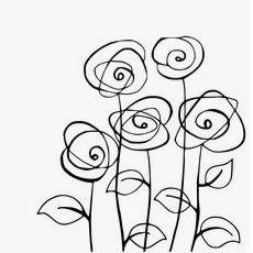 cute doodle flowers