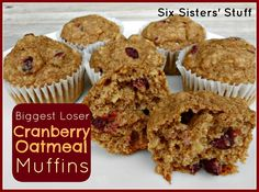 Biggest Loser's Cranberry Oatmeal Muffins- these are my go-to guilt free snack! They also make a great breakfast. SixSistersStuff.com #muffins #healthysnack