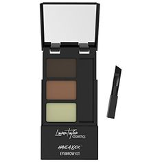 Eyebrow Kit By Lauren Taylor Cosmetics - A Long Lasting Double Powder Palette With Wax, Brush  #Makeup
