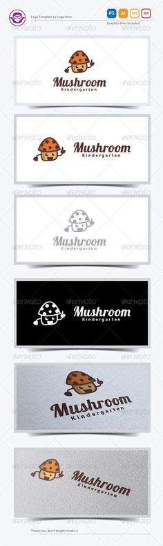 Mushroom Logo Template — Photoshop PSD #cartoon #kid • Available here → https://graphicriver.net/item/mushroom-logo-template/5892444?ref=pxcr