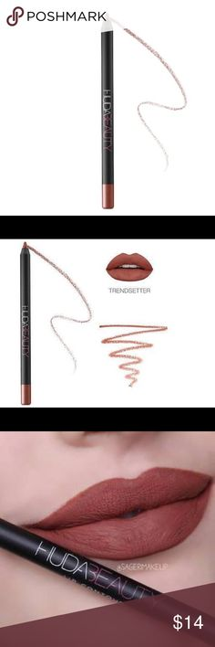 Huda beauty lip contour lip liner in trendsetter! Perhaps the most popular shade! Used only twice! No trades huda beauty Makeup Lip Liner