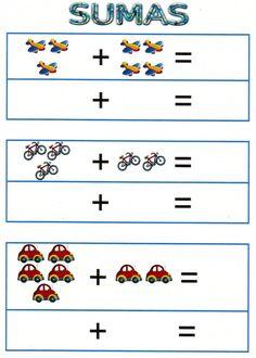 Didáctica para enseñar a sumar y restar                                                                                                                                                     Más Toddler Learning, Preschool Learning, Kindergarten Math, Teaching, Kids Math Worksheets, Preschool Printables, Math Activities, Hidden Picture Puzzles, Daily Math