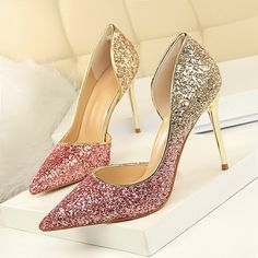 cb93d3932c US $9.2 54% OFF|LAKESHI Women Pumps Extrem Sexy High Heels Women Shoes Thin Heels  Female Shoes Wedding Shoes Gold Sliver White Ladies Shoes-in Women's Pumps  ...