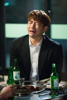 "6 Stills of a ""drunk"" Rain for Come Back, Mister"