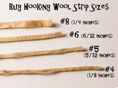 Rug hooking - what size of wool? – Loopy Wool Supply
