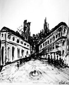 design by Federico Poletti  #sketch #blackink #city #war