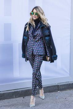 Street Style bei der New York Fashion Week, Februar 2016