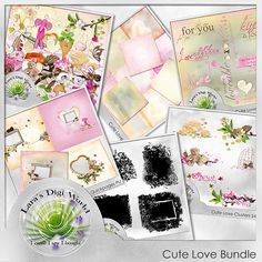 February 8: Cute Love Bundle with Freebie   #digiscrap #theStudio #DOTD