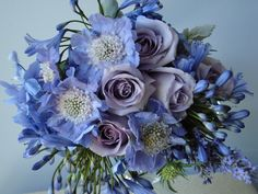 periwinkle blue wedding bouget | Blue Bouquet