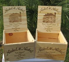 wine box card holder
