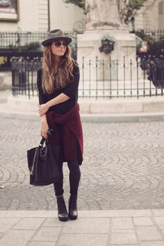 fall colors / wine + black
