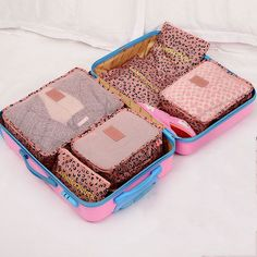 6 PCS/Set Oxford Travel Mesh Organizer Case Cover Clothes Underclothes Socks Bras Storage Bag Waterproof Bags Home Organization