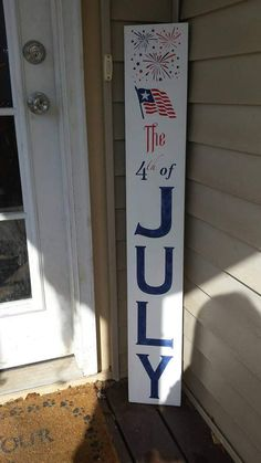 of july porch sign fireworks reversible vertical july crafts, summer crafts, holiday crafts Fourth Of July Decor, 4th Of July Decorations, July 4th, July Crafts, Summer Crafts, Teen Crafts, Holiday Crafts, Holiday Ideas, Independance Day