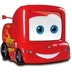 Lightening McQueen TV -will match Quinton's new toddler bed and race car bedroom perfectly!
