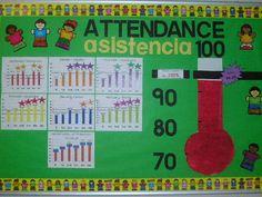 Attendance Data Wall at Hallman Attendance Display, Attendance Incentives, Attendance Board, Attendance Tracker, Student Attendance, Attendance Ideas, Classroom Attendance, Classroom Behavior, Data Bulletin Boards