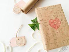 Preppy and Unique DIY Valentines Day Gift Wrap
