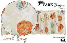 Park Designs Coral Bay Valance, Pretty Beach Motif, Printed Cotton, 72x14, One #ParkDesigns #Nautical