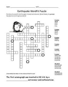 Bodies of Water Crossword | Crosswords for Kids | Puzzles ...