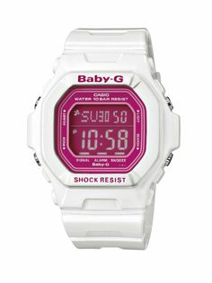 Baby-G Casio Ladies Digital Watch BG-5601-7ER with Resin Strap: Amazon.co.uk: Watches