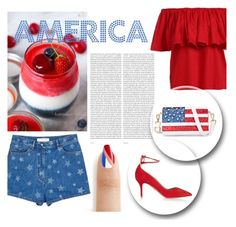 """Made In America"" by angel-vir ❤ liked on Polyvore featuring Valentino, Oris, Chicnova Fashion and Kerr®"