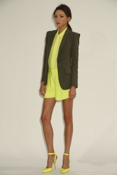marissa webb rtw sp13. we obviously love a strong blazer + monochrome + neon yellow by mollie