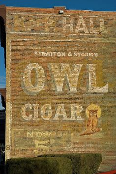 """""""Ghost Sign"""" by flyingdoginc, via Flickr. Sign painted on a building in downtown Socorro."""