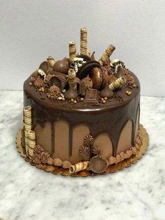 ideas for birthday cake chocolate decoration dads – Birthday 2020 Chocolate Birthday Cake Decoration, Birthday Cake Decorating, Chocolate Drip Cake Birthday, Nutella Birthday Cake, Chocolate Cake Designs, Cake Chocolate, Chocolate Cake Images, Cake Cookies, Cupcake Cakes