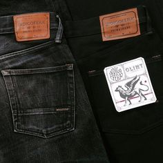 Indigofera Re-Stock! Clint Jeans Gunpowder. (made in portugal, selvage, wear well)