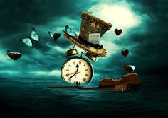 Clock of time? Art Du Temps, Clock Art, Clocks, Through The Looking Glass, Time Art, Surreal Art, Belle Photo, Dark Art, Time Travel