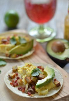 Egg, Pancetta and Potato Breakfast Tacos.