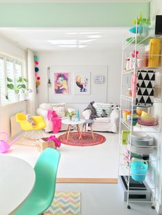 fresh summer living room decor ideas relaxing for your family page 13 Living Room Designs, Living Room Decor, Bedroom Decor, Colourful Living Room, Aesthetic Rooms, House Rooms, Home Renovation, Home And Living, Room Inspiration