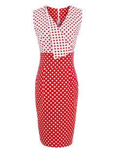 4b9e1098e99b Sisjuly women vintage bodycon dress 1950s summer women red polka dots retro  pencil dresses cute female