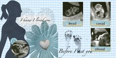 Third Stop on The Right: Digital Scrapbook Project: Ultrasound Pictures