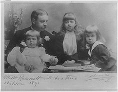 Elliot Roosevelt (Theodore Roosevelt's brother) and his sons, Elliott, Jr. and  Hall and daughter,  Eleanor Roosevelt