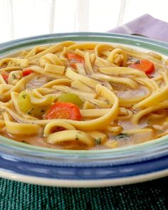 Homemade Vegetable Stock & Chickenless Noodle Soup