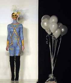 A body painting model at Denver Fashion Weekend Show was held at the EXDO Events Center in Denver on Friday, March 2, 2012. It featured a body painting component inspired by a carousel. Cyrus McCrimmon, The Denver Post