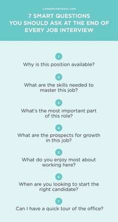 When you ask the right job interview questions, you're giving your potential employer proof that you're the candidate she needs. Make sure to ask these 7 questions at the end of your job interview. Interview Questions To Ask, Interview Skills, Job Interview Tips, Job Interviews, Prepare For Interview, Interview Nerves, Job Resume, Resume Tips, Job Career