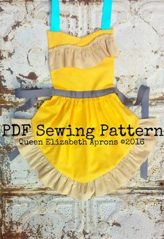 POCAHONTAS Disney princess inspired by QueenElizabethAprons *different colors but love the pattern Disney Princess Aprons, Disney Aprons, Princess Dress Up, Princess Apron Pattern, Child Apron Pattern, Dress Up Aprons, Cute Aprons, Resale Clothing, Childrens Aprons