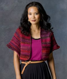 Brilliant Bolero Free Crochet Pattern in Red Heart Yarns