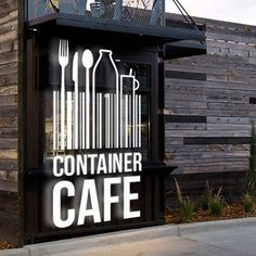 Create a branding package for a converted shipping container cafe by FORTUNA Design Container Bar, Container Home Designs, Container Coffee Shop, Container Architecture, Container Buildings, Shipping Container Restaurant, Converted Shipping Containers, Coffee Shop Design, Cafe Design