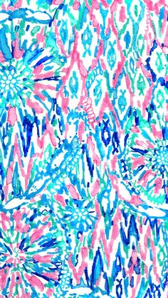 Lilly Pulitzer SummerSheSheShells iphone wallpaper Patterns We
