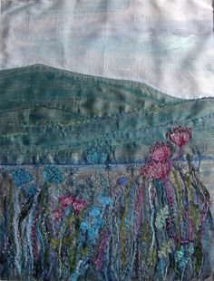 Painted silk embroidery - Rosemarie Taylor