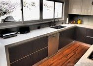 modern kitchen with black countertop - Bing images