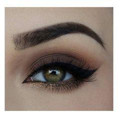Shimmery shadow under eye