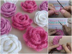 Crochet Flowers Rosette